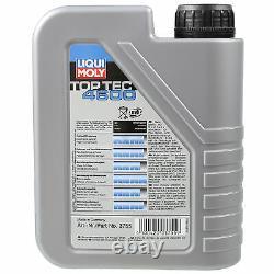 Sketch D'Inspection Filtre Liqui Moly Huile 6L 5W-30 pour Audi A8 4D2 4D8 2.8